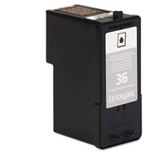 Lexmark 18C2130: No. 36 Ink Cartridge Alternative for Lexmark Inkjet Standard Yield 175 Pages Black 1 Each
