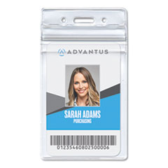 Advantus 75524: Resealable Id Badge Holder, Vertical, 3.68 X 5, Clear, 50 / Pack