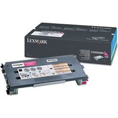 Lexmark C500S2MG: Toner Cartridge Laser Standard Yield 1500 Pages Magenta 1 Each
