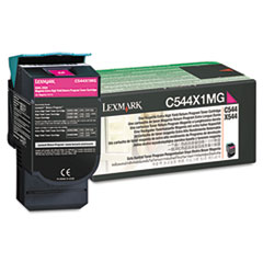 Lexmark C544X1MG: C544X1Mg Return Program Extra High-Yield Toner, 4,000 Page-Yield, Magenta