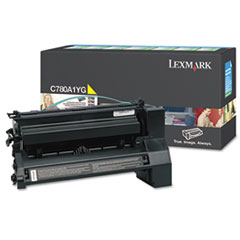 Lexmark C780A1YG: Toner Cartridge Laser 6000 Pages Yellow 1 Each