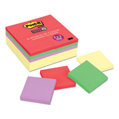 Post-it 65424SSCYN: Note Pads Office Pack, 3 x 3, Canary Yellow / marrakesh, 90-Sheet, 24 / pack