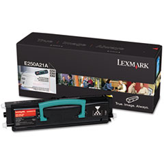 Lexmark E250A21A: Original Toner Cartridge Laser 3500 Pages Black 1 Each