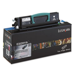Lexmark E352H11A: E352H11A Return Program High-Yield Toner, 9,000 Page-Yield, Black