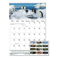House of Doolittle 3731: Recycled Wildlife Scenes Monthly Wall Calendar, 12 X 12, 2020