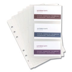 Samsill 81079: Refill Sheets for 4 1/4 x 7 1/4 Business Card Binders, 60 Card Capacity, 10 / pack