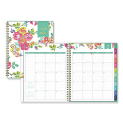 Blue Sky 107925: Day Designer Academic Year Cyo Weekly / Monthly Planner, 11 X 8.5, White / Floral, 2020-2021