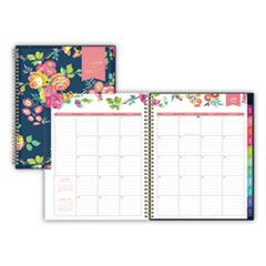 Blue Sky 107924: Day Designer Academic Year Cyo Weekly / Monthly Planner, 11 X 8.5, Navy / Floral, 2020-2021