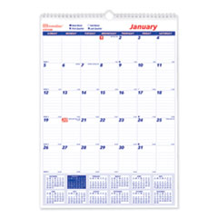 Brownline C171102: One Month Per Page Twin Wirebound Wall Calendar, 12 X 17, 2020