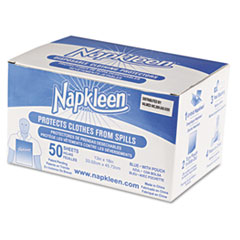Medline Industries VLMP8101: Napkleen Disposable Bibs, 2-Ply Tissue, 1-Ply Poly, 13 x 18, Lt. Blue, 50 / carton