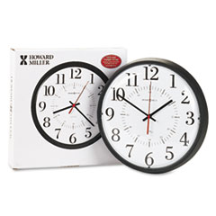 Howard Miller 625323: Alton Auto Daylight Savings Wall Clock, 14 Overall Diameter, Black Case, 1 Aa Sold Separately