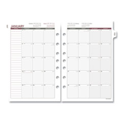 Day Runner 061685Y: Monthly Planning Pages, 8.5 X 5.5, 2021