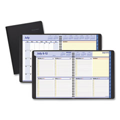 At A Glance 761105: Quicknotes Weekly / Monthly Planner, 10 X 8, Black, 2020-2021