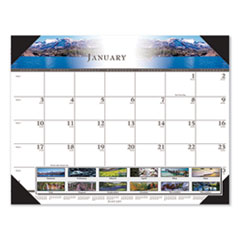 House of Doolittle 140HD: Recycled Full-Color Photo Monthly Desk Pad Calendar, 22 X 17, 2021
