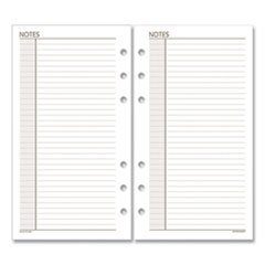 Day Runner 013200: Lined Notes Pages, 6.75 X 3.75, White, 30 / Pack