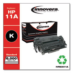 Innovera 83011A: REMANUFACTURED BLACK TONER CARTRIDGE, REPLACEMENT for HP 11A Q6511A, 6,000 PAGE-YIELD