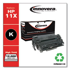 Innovera 83011X: REMANUFACTURED BLACK HIGH-YIELD TONER CARTRIDGE, REPLACEMENT for HP 11X Q6511X, 12,000 PAGE-YIELD