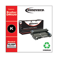 Innovera DR520: REMANUFACTURED BLACK DRUM UNIT, REPLACEMENT for BROTHER DR520, 25,000 PAGE-YIELD