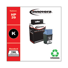 Innovera 2029A: REMANUFACTURED BLACK INK, REPLACEMENT for HP 29 51629A, 720 PAGE YIELD