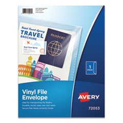 Avery 72053: Vinyl File Envelope, Letter Size, Clear