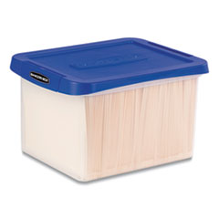 Bankers Box 0086201: Heavy Duty Plastic File Storage, Letter / Legal Files, 14 X 17.38 X 10.5, Clear / Blue