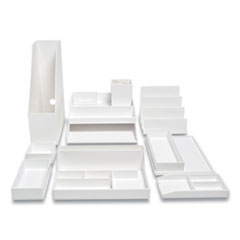 TRU RED 24380373: 12-Piece Plastic Desk Set, White