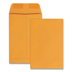 Quality Park 40767: Catalog Envelope, 1, Square Flap, Gummed Closure, 6 X 9, Brown Kraft, 100 / Box
