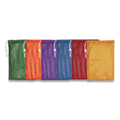 Champion Sports MB18SET: Heavy-Duty Mesh Bag, 12 X 18, Gold, Green, Orange, Purple, Royal Blue, Scarlet Red, 6 / Set
