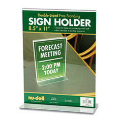 Nu-Dell 38020: Acrylic Sign Holder, 8 1/2 x 11, Clear