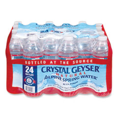 Crystal Geyser 24514CT: Alpine Spring Water, 16.9 Oz Bottle, 24 / case