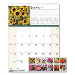 House of Doolittle 327: Recycled Floral Monthly Wall Calendar, 12 X 16.5, 2021