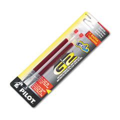 Pilot 77234: REFILL for PILOT GEL PENS, EXTRA-FINE POINT, RED INK, 2 / PACK