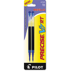 Pilot 77279: REFILL for PILOT PRECISE V7 RT ROLLING BALL, FINE POINT, BLUE INK, 2 / PACK