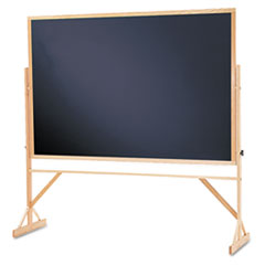 Quartet WTR406810: Quartet Reversible Easel Black Chalkboard, 4 x 6, Hardwood Frame 48 4 ft Width x 72 6 ft Height Black Surface Oak Hardwood Frame 1 / Each