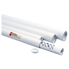 Quality Park 46020: White Mailing Tubes, 36 Long, 3 Diameter, White, 25 / Carton