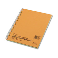 National Brand 33008: Single-Subject Wirebound Notebooks, 1 Subject, Narrow Rule, Brown Cover, 10 X 8, 80 Sheets