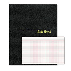 National Brand 43523: Roll Call Book, 9-1/2 x 7-7/8, Black, 48 Pages