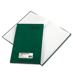 National Brand 56111: Emerald Series Account Book, Green Cover, 150 Pages, 12 1/4 x 7 1/4