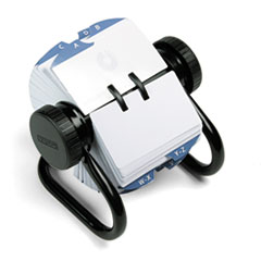 Rolodex 66704: Open Rotary Card File Holds 500 2-1/4 x 4 Cards, Black
