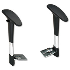 Safco 3495BL: Adjustable T-Pad Arms for Metro Series Extended-Height Chairs, Black / chrome