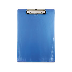 Saunders 00439: Plastic Clipboard, 1/2 Capacity, 8 1/2 x 12 Sheets, Ice Blue