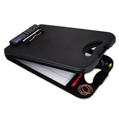 Saunders 00534: Deskmate Ii with calculator, 1/2 Clip Cap, 8 1/2 x 12 Sheets, Black