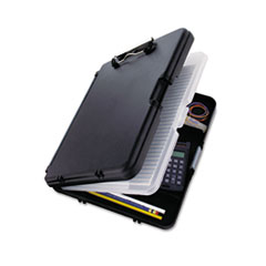 Saunders 00552: Workmate Ii Storage Clipboard, 1/2 Capacity, Holds 8-1/2w x 12h, Black / charcoal