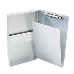 Saunders 10507: Snapak Aluminum Side-Open Forms Folder, 3/8 Clip Cap, 5.66 X 9.5 Sheets, Silver