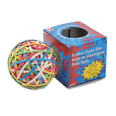ACCO 72155: Rubber Band Ball, Approximately 275 Rubber Bands, Assorted