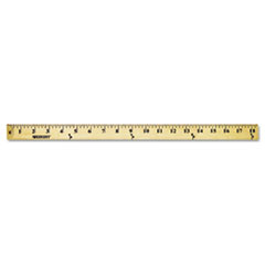 Westcott 10425: Wood Yardstick with Metal Ends, 36