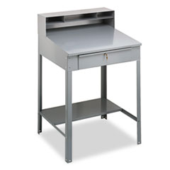 Tennsco SR57MG: Open Steel Shop Desk, 34-1/2w x 29d x 53-3/4h, Medium Gray
