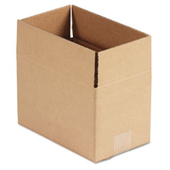 United Facility Supply 1066: Brown Corrugated Fixed-Depth Shipping Boxes, 10l x 6w x 6h, 25 / bundle