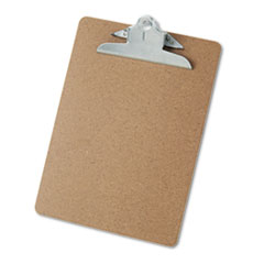 Universal 40304: Hardboard Clipboard, 1 Capacity, Holds 8 1/2 x 11, Brown