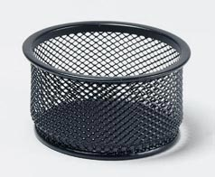 Eldon 22161: Expressions Wire Mesh Jumbo Paper Clip Holder, Black